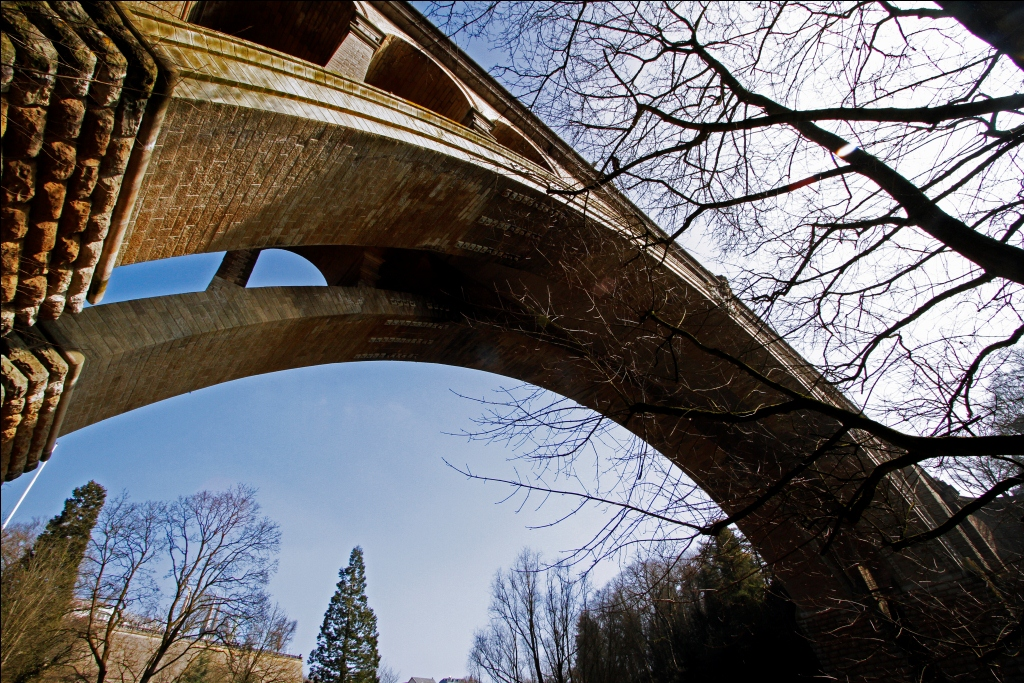 Pont Adolphe with a piece of sky
